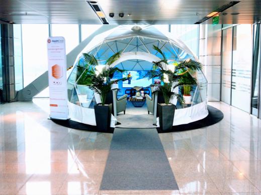 Innowacyjna przestrzeń Business Lightroom premium lounge by HealthDesk