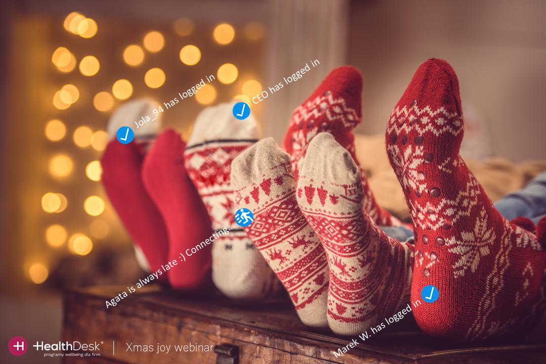 zalogowani użytkowni na świąteczny webinar xmas dla firm